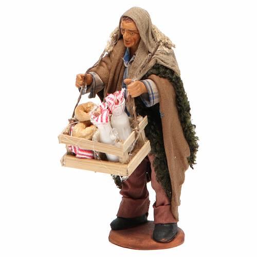 Milkman with box and glass bottles, Neapolitan Nativity 12cm s2