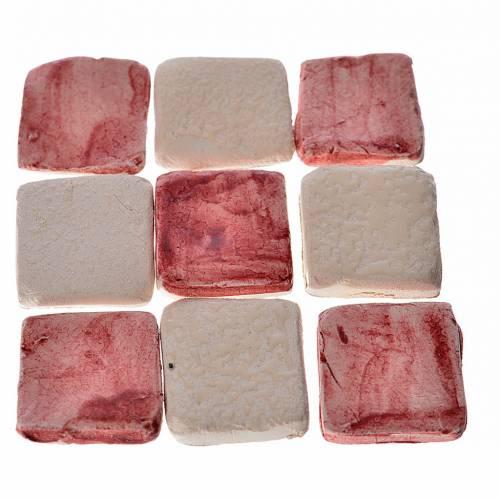 Mini-carreaux bordeaux pour crèche 60 pcs terre cuite s1