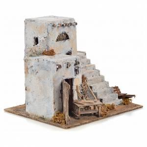 Mini maison arabe 26x22x22 cm crèche Napolitaine s2