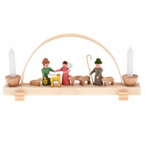 Mini pesebre de madera hecho a mano s1