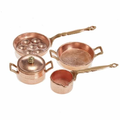 Mini-poêles et casseroles crèche lot 4 pc s1