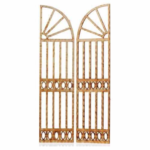 Mini portail courbé crèche 26,5x13cm 2 pcs s2
