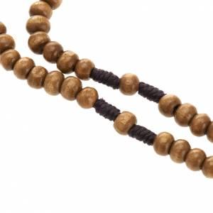 Mini rosario legno legatura corda 5 mm s3