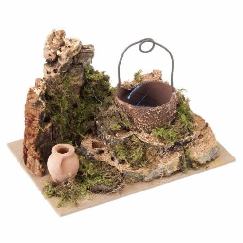Miniature décoratif crèche noël puits s1