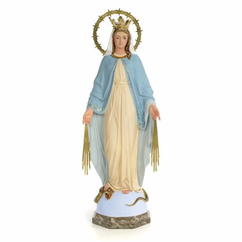 Miraculous Virgin statue 60cm, wood paste, fine decoration s1