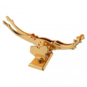 Monstrance, Alpha Omega crosses, gold-plated brass s6
