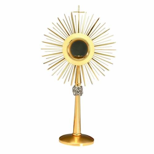 Monstrance gold plated brass, glossy s1