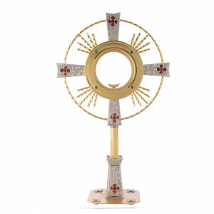 Monstrances, Chapel monstrances, Reliquaries in metal: Monstrance Magna host with enamels