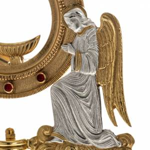 Monstrances, Chapel monstrances, Reliquaries in metal: Monstrance with stones and angels
