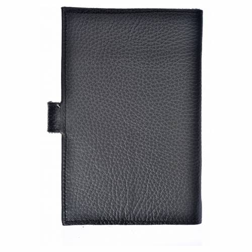 Morning and Evening Prayer cover black bonded leather Our Lady of Kiko s2