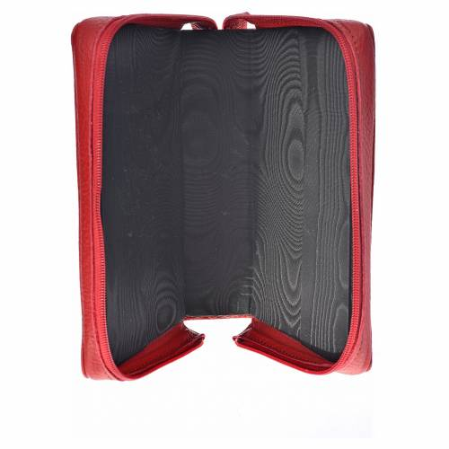 Morning and Evening Prayer cover red leather, image of Our Lady of Kiko s3