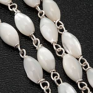 Mother of pearl beads rosary in 925 silver s3