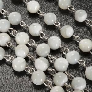 Mother-of-pearl rosaries: Mother of pearl rosary, 6mm round beads