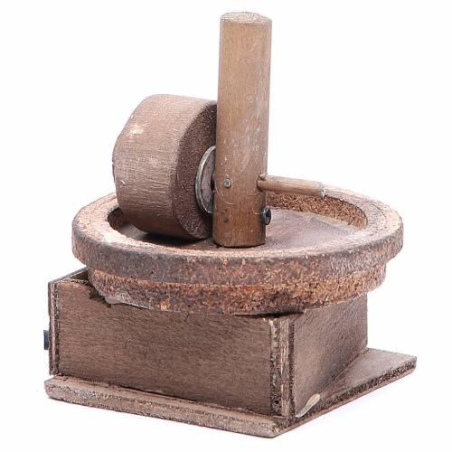 Moulin à huile 11x9 cm crèche napolitaine s2