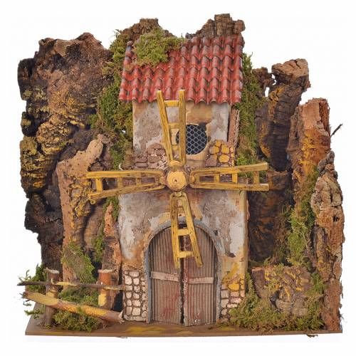 Moulin à vent en miniature 25x14x25 cm moteur s1