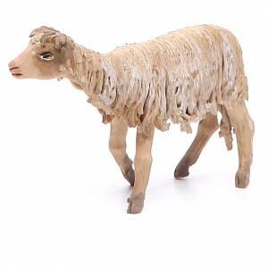 Mouton debout 13cm crèche terre cuite Angela Tripi s1