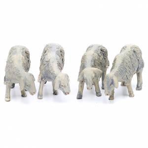 Moutons en résine pour crèche de 25 cm 4 pcs s1
