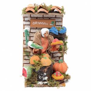 Movimiento Belén 10 cm tienda con verduras s1