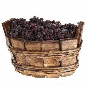 Belén napolitano: Tina oval uva negra, pesebre Napolitano