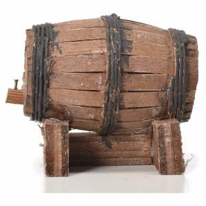 Belén napolitano: Barril de  madera 7,5 cm. para el pesebre Napolitano