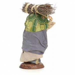 Mujer cargando el heno 18 pesebre Napolitano s3