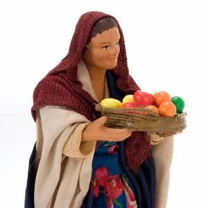Belén napolitano: Mujer con cesto 14 cm