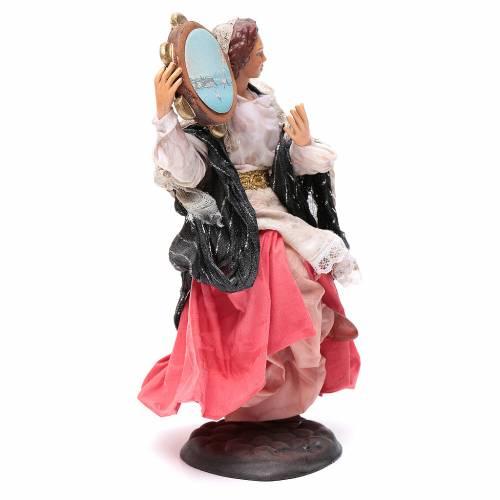 Mujer con pandereta 18 cm. belén napolitano s3