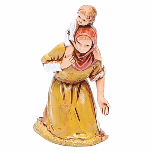 Mujer en adoración y niño 6,5 cm Moranduzzo en trajes de época s1