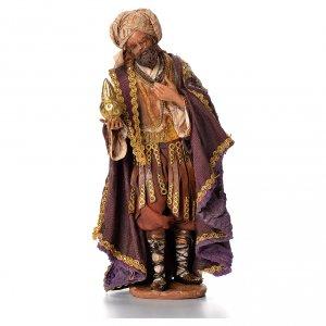 Krippenfiguren von Angela Tripi: Mulatter heiliger König 18cm Terrakotta, A. Tripi
