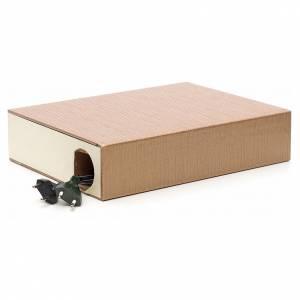 Mulino a vento elettrico per presepe in libro 24x30x8 s3