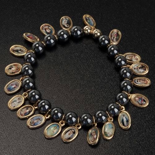 Multi-image hematite bracelet s3