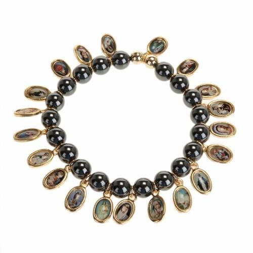 Multi-image hematite bracelet s1