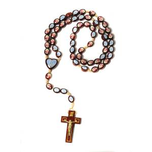 Multi-image rosary oval shaped beads s1