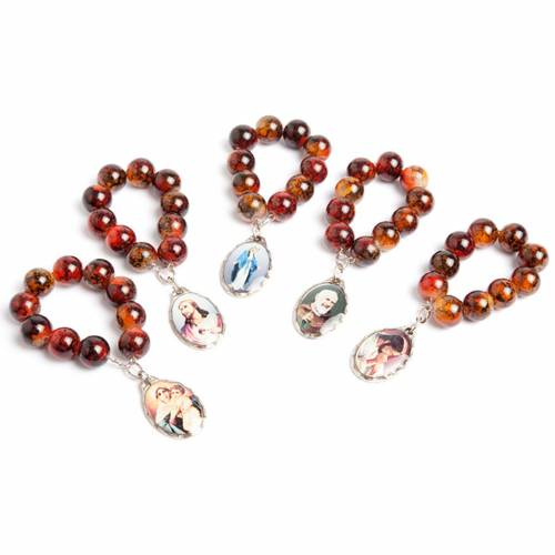 Murano glass ten beads rosary 1