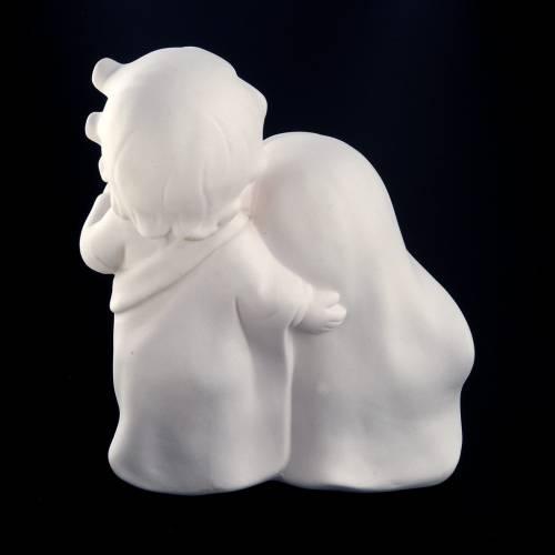 Natividad cerámica blanca estilizada cm. 18 s4