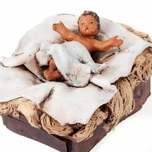 Belén terracota Deruta: Natividad terracota pintada a mano 18cm.