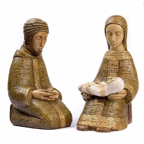 Natividad Virgen campesina grande verde s1