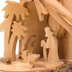 Decorazioni albero in legno e pvc: Natività in olivo da appendere 10 cm