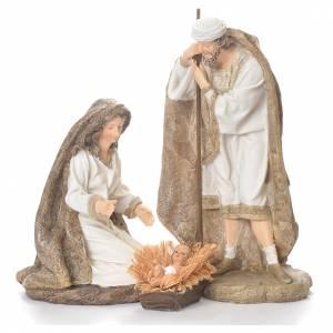 Nativité 31,5 cm résine vêtements blancs s1