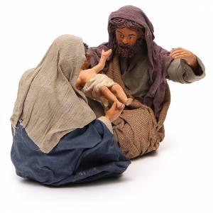 Nativité assise 24 cm crèche napolitaine s4
