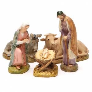 Nativité boeuf âne résine peinte 10 cm gamme M. Landi s1