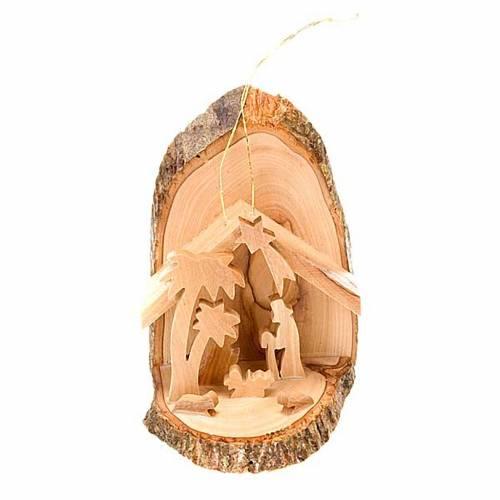 Nativité en bois d'olivier avec fil s1