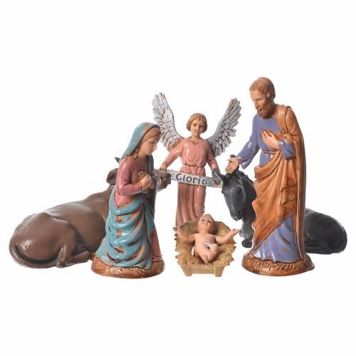 Nativité classique 6  pcs 10 cm Moranduzzo s1