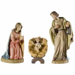 Nativité miniature pour crèche bois peint Val Gardena s1