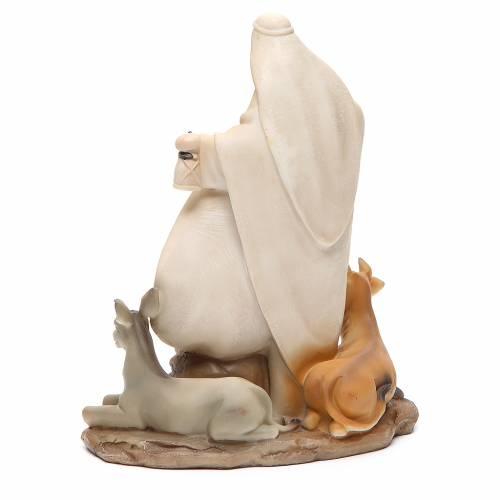 Nativité stylisée pièce unique h 22,5 cm résine s3