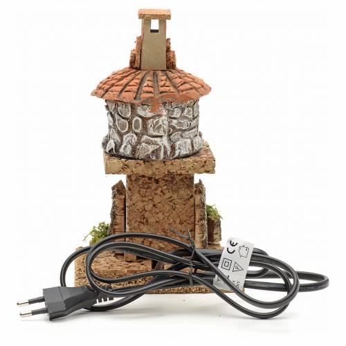 Nativity accessory, electric fire 18x15x15cm s3