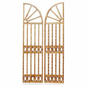 Nativity accessory, gate, 2 pieces 26.5x13cm s2