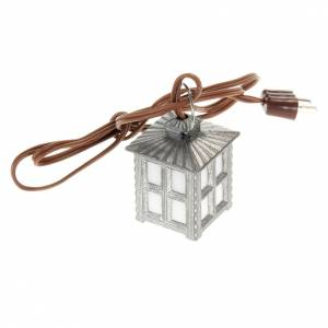 Nativity lights and lamps: Nativity accessory, metal lamp with white light, 2.5cm