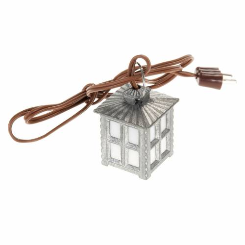 Nativity accessory, metal lamp with white light, 2.5cm s1