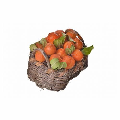 Nativity accessory, orange basket in wax, 4.5x5.5x6cm s2
